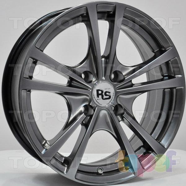Колесные диски RS 355. Цвет: насыщенный тёмно-серебристый