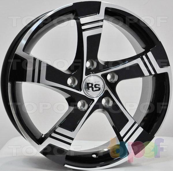 Колесные диски RS 882. Матовый черный с полированными деталями лицевой части