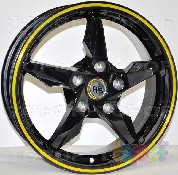 Колесные диски RS 883. Серый с красной полосой по ободу