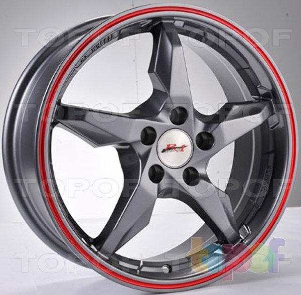 Колесные диски RS 883. Черные с серебристой полосой по ободу