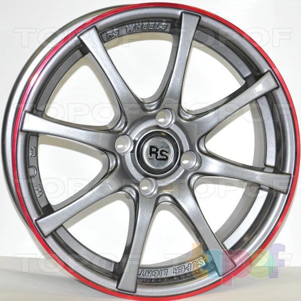 Колесные диски RS 886. Цвет: серый с полированным ободом