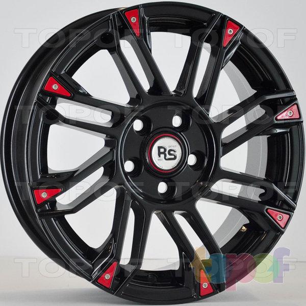 Колесные диски RS 889. Цвет: Черный с красными вставками на ободе