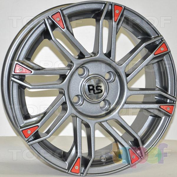 Колесные диски RS 889. Цвет: Серый с красными вставками на ободе