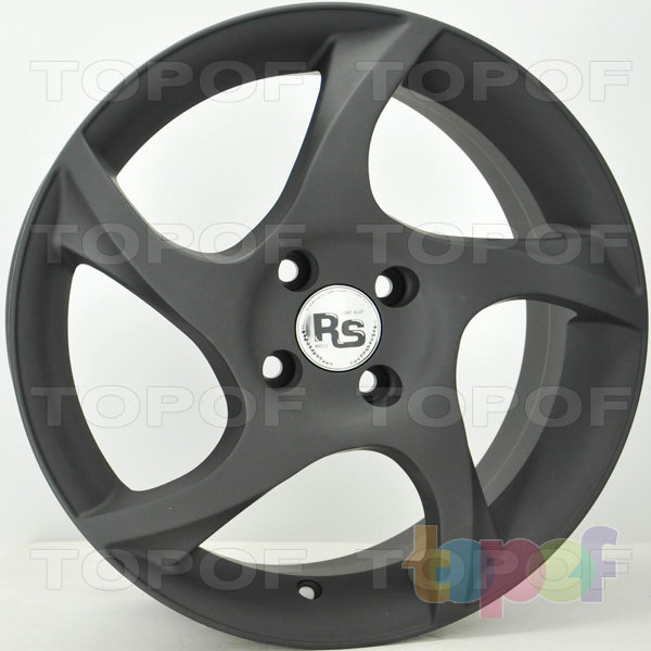 Колесные диски RS S504. Цвет: Матовый черный