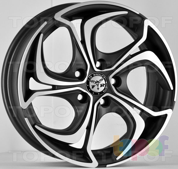 Колесные диски RS Z21. Черный матовый с полированной лицевой частью