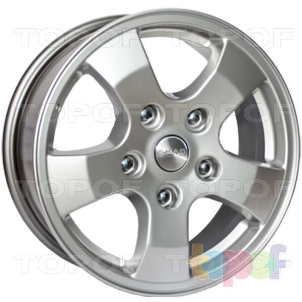 Колесные диски СКАД Арго. Цвет колесного диска - Селена (серебристый цвет с мелкодисперсной структурой, покрытие с эффектом металлического блеска)