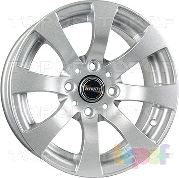 Колесные диски TECH Line 316. Цвет серебристый
