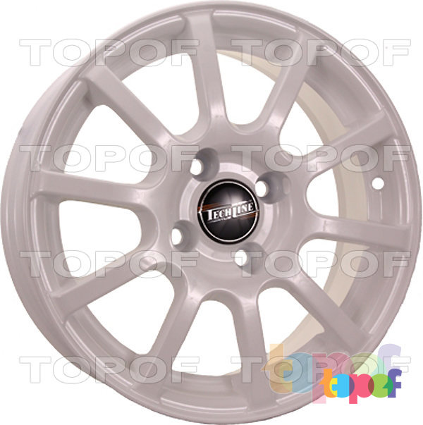 Колесные диски TECH Line 415. Цвет белый
