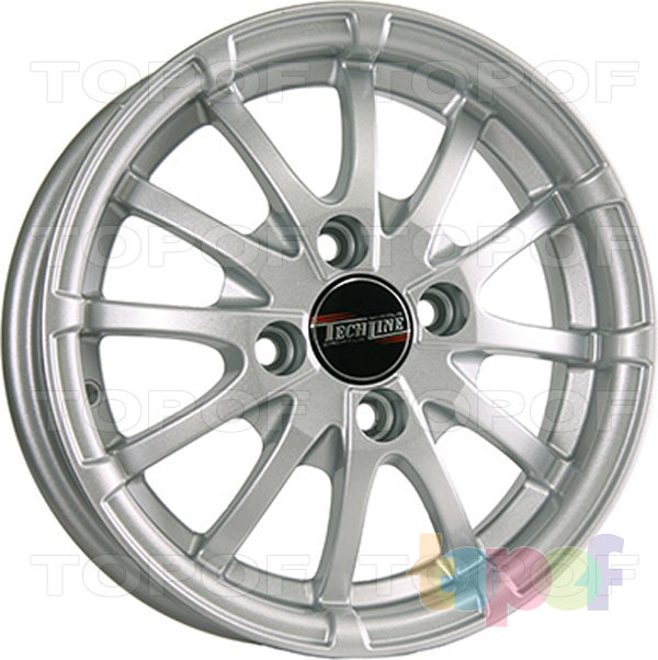 Колесные диски TECH Line 420. Цвет серебристый
