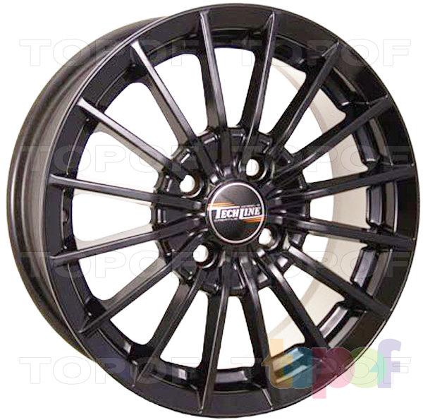 Колесные диски TECH Line 426. Цвет черный полированный