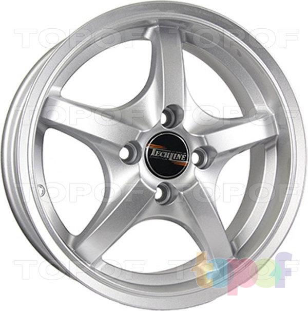 Колесные диски TECH Line 427. Цвет серебристый