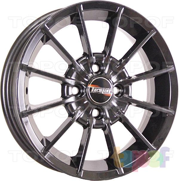 Колесные диски TECH Line 432. Цвет черный полированный