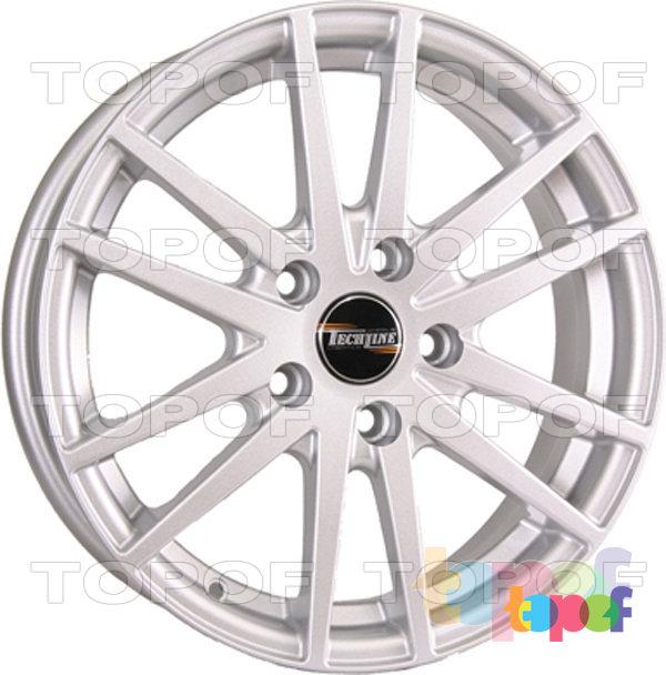 Колесные диски TECH Line 435. Цвет серебристый