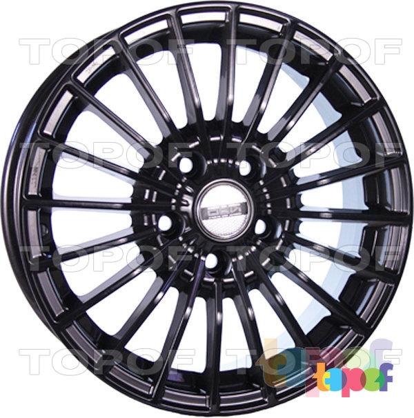 Колесные диски TECH Line 437. Цвет черный полированный