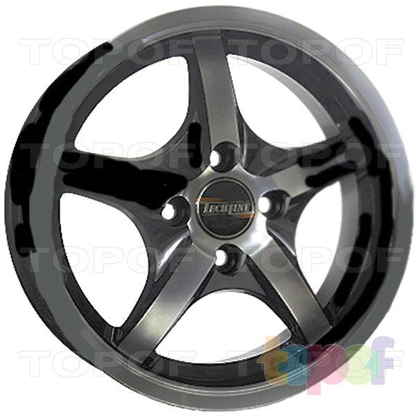 Колесные диски TECH Line 527. Цвет черный матовый