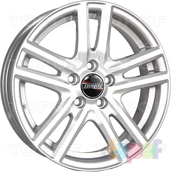 Колесные диски TECH Line 529. Цвет серебристый