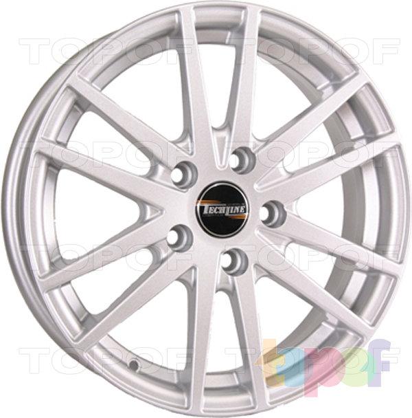 Колесные диски TECH Line 535. Цвет серебристый