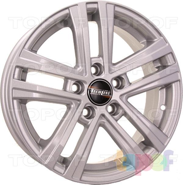 Колесные диски TECH Line 545. Цвет серебристый