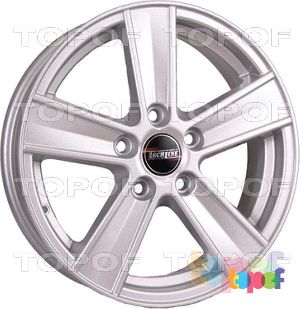Колесные диски TECH Line 604. Цвет серебристый