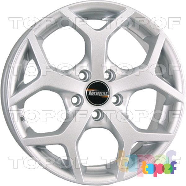 Колесные диски TECH Line 632. Цвет серебристый