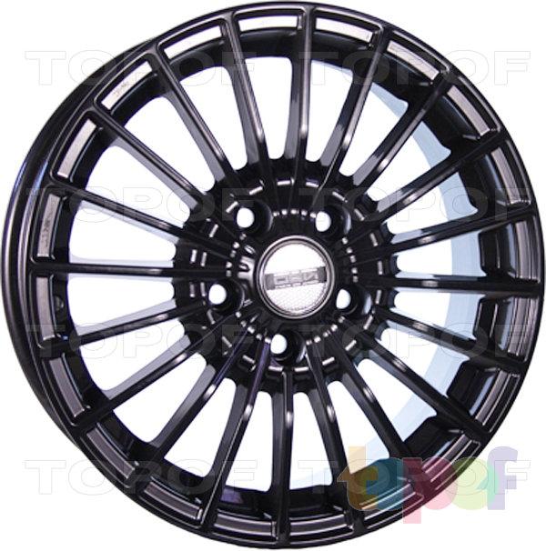 Колесные диски TECH Line 637. Цвет черный полированный
