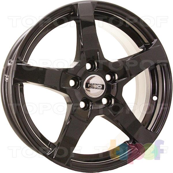 Колесные диски TECH Line 646. Цвет черный полированный