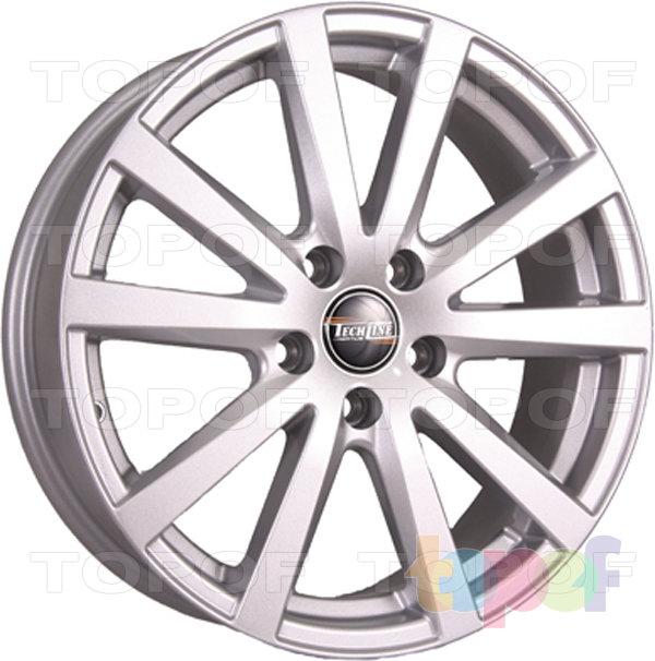 Колесные диски TECH Line 649. Цвет серебристый