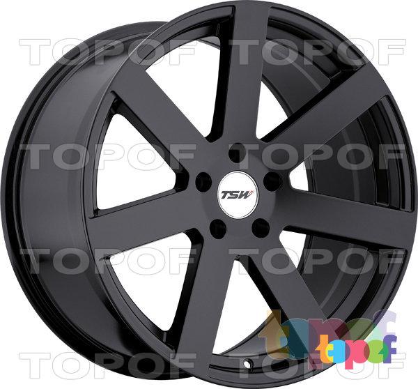 Колесные диски TSW Bardo. Цвет матовый черный
