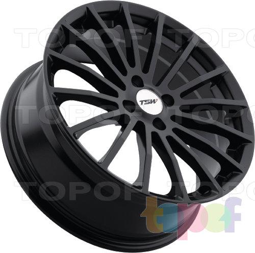 Колесные диски TSW Mallory. Цвет - черный. 5 отверстий