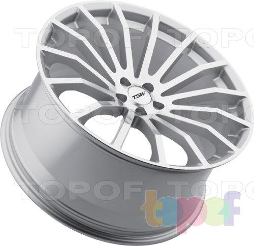 Колесные диски TSW Mallory. Цвет - серебряный. 5 отверстий