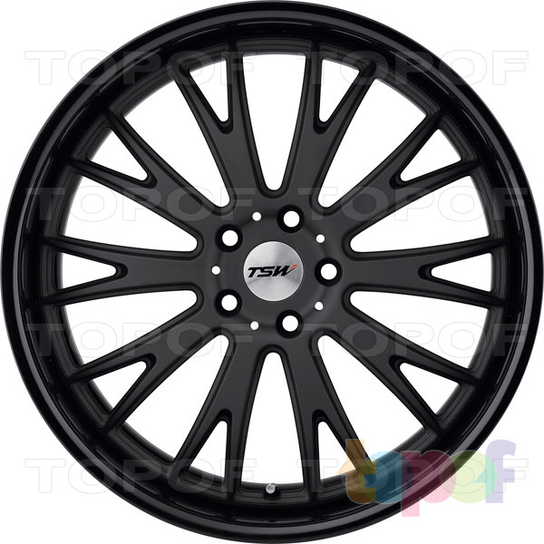 Колесные диски TSW Monaco. Цвет матовый черный