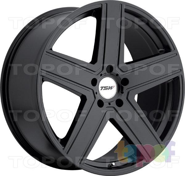 Колесные диски TSW Regis. Цвет матовый черный