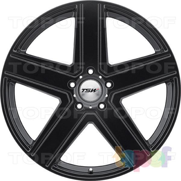 Колесные диски TSW Regis. Цвет черный с полированной лицевой стороной