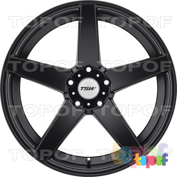 Колесные диски TSW Sochi. Цвет черный с полированной лицевой стороной