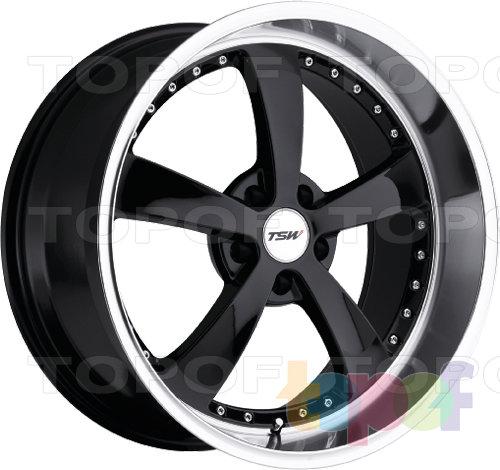 Колесные диски TSW Strip. Цвет черный