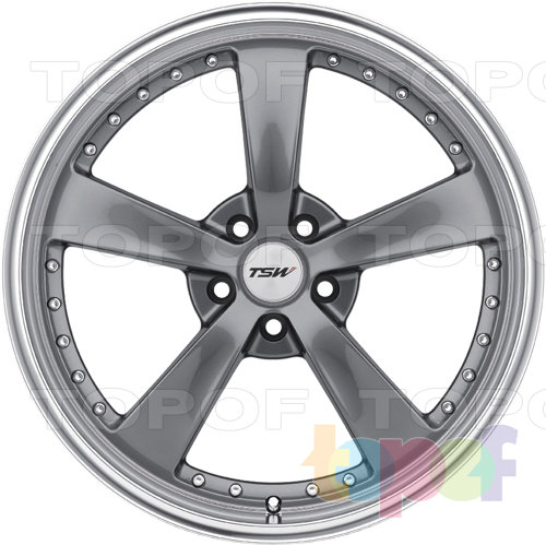 Колесные диски TSW Strip. Цвет GunMetal
