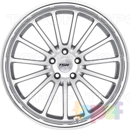Колесные диски TSW Zolder 5. Цвет серебряный