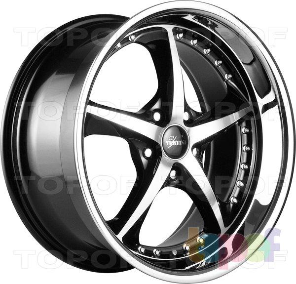 Колесные диски Vertini Carrera. Цвет Black Machined Face