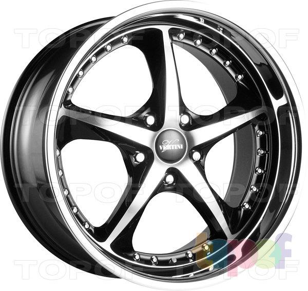 Колесные диски Vertini Carrera. Цвет черный с полированными частями лицевой стороны