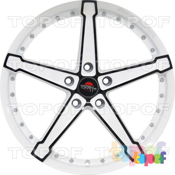 Колесные диски Yokatta Model-10. Цвет белый с черной окантовкой лучей