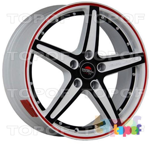 Колесные диски Yokatta Model-11. Цвет W+B+RS+BSI