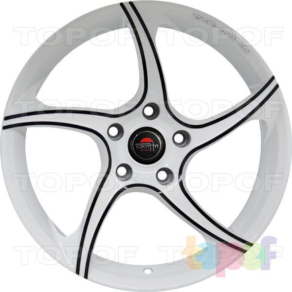 Колесные диски Yokatta Model-2. Цвет белый с черными прожилками