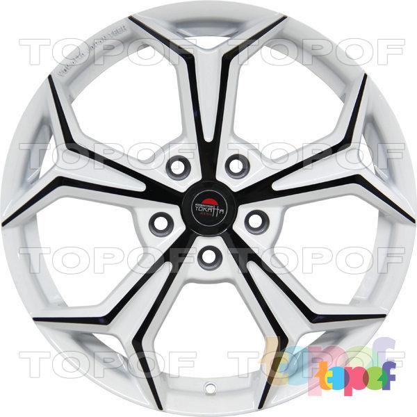 Колесные диски Yokatta Model-20. Цвет белый с черной окантовкой лучей
