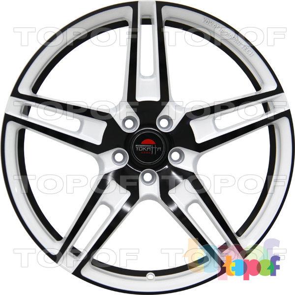 Колесные диски Yokatta Model-21. Цвет белый с черной окантовкой лучей и обода