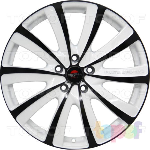 Колесные диски Yokatta Model-22. Цвет белый с черной окантовкой лучей и обода