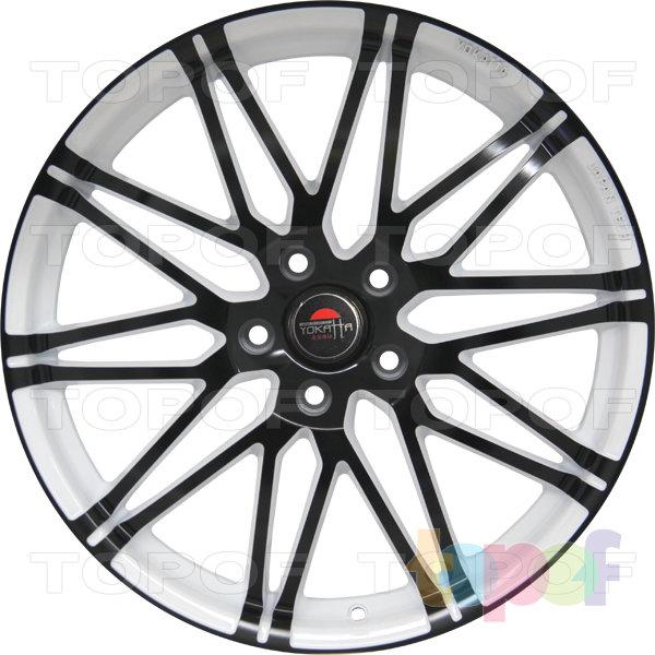 Колесные диски Yokatta Model-28. Цвет белый с черной окантовкой лучей и обода
