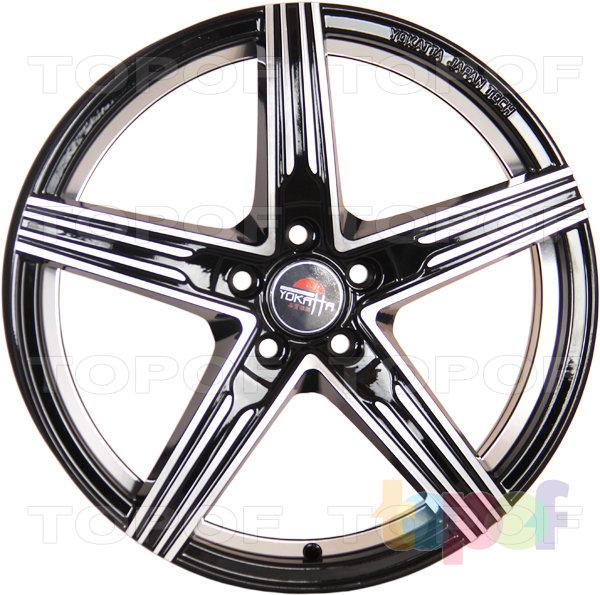 Колесные диски Yokatta Model-29. Цвет черный матовый полированный