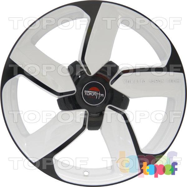 Колесные диски Yokatta Model-39. Цвет белый матовый с черной окантовкой лучей и обода