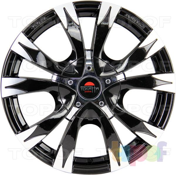 Колесные диски Yokatta Model-6. Цвет черный полированный