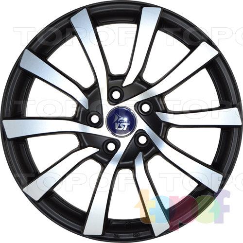 Колесные диски YST x11. Черный с полированной лицевой стороной